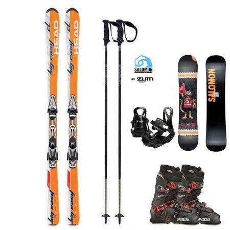 Basic Ski Package (Downtown) w/FREE Kids Snowboard Package