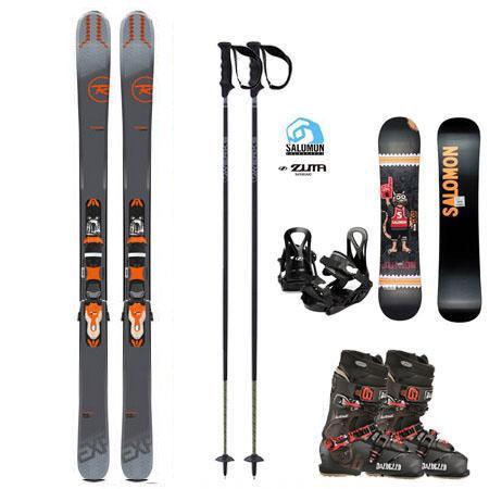 Premium Ski Package (Mountain) w/FREE Kids Snowboard Package